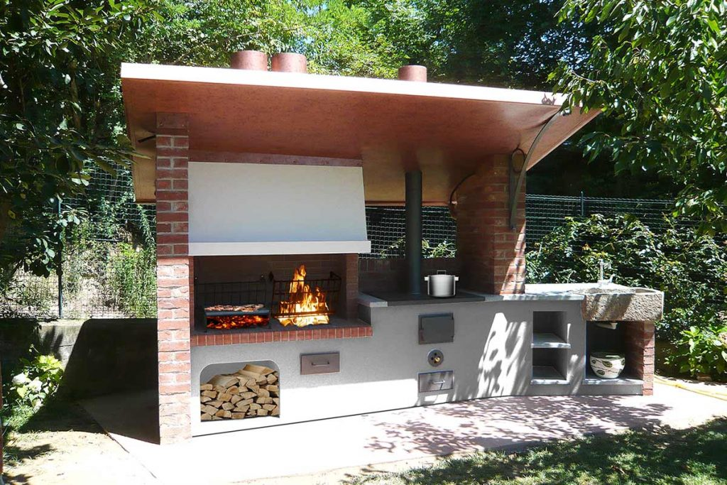 Super barbecue e forno pizza in muratura zi56 pineglen - Barbecue per esterno ...