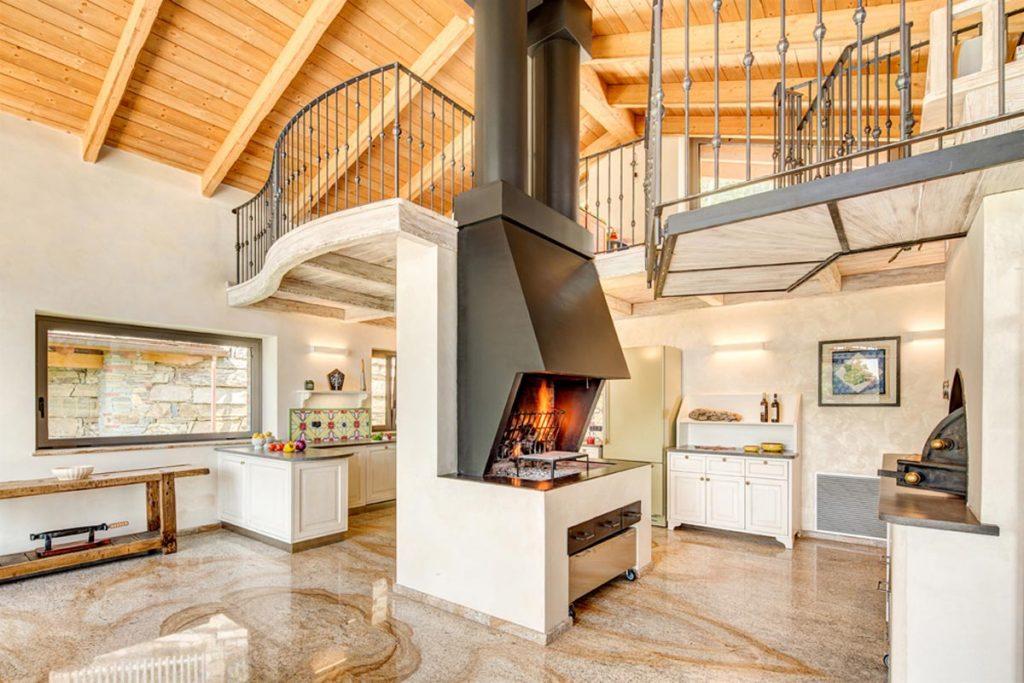 Caminetti Da Interni Moderni : Taverne forni e barbecues toppino home design
